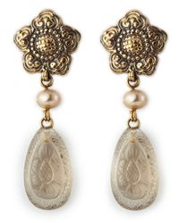 Stephen Dweck | Metallic Smoky Quartz Drop Earrings | Lyst