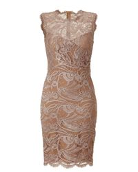 Emilio Pucci | Natural Pearl Lace Dress | Lyst