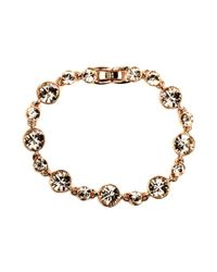 Givenchy - Pink Rose Gold Tone Silk Circle Flex Bracelet - Lyst