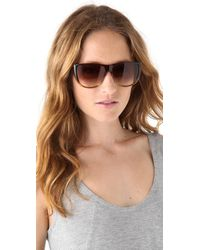 Marc Jacobs Brown Flat Top Ombre Sunglasses