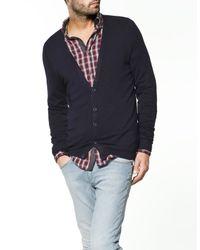Zara | Blue Viscose/polyamide Jacket for Men | Lyst