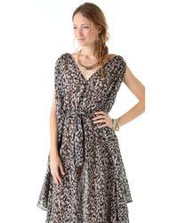 Zimmermann - Gray Devoted Butterfly Dress - Lyst
