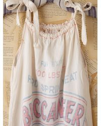 Free People | White Vintage Flour Bag Dress | Lyst