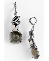 Givenchy | Black Mojave Crystal Drop Earrings | Lyst