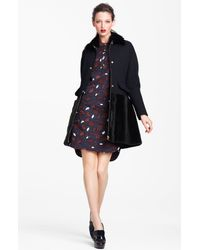 Marni | Blue Edition Leaf Print Poplin Shirt Dress | Lyst