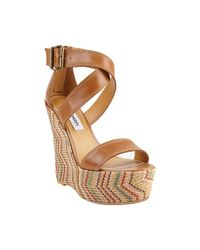 Steve Madden | Brown Getout Wedge Sandals | Lyst