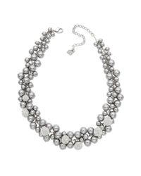 Swarovski | Gray Crystal Pearl Necklace | Lyst