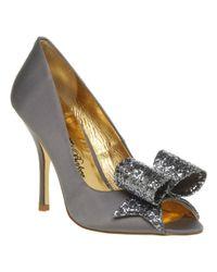 Ted Baker - Gray Keanah Peeptoe Court Shoe Grey Glitter - Lyst