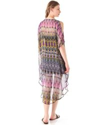 Twelfth Street Cynthia Vincent - Multicolor Cold Shoulder Maxi Caftan Dress - Lyst
