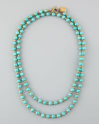 Ashley Pittman - Blue Shanga Turquoise Necklace 38l - Lyst