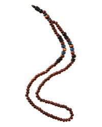 ASOS   Brown Maui Wooden Beaded Necklace for Men   Lyst