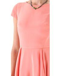 Katie Ermilio - Pink Draped Swing Dress - Lyst