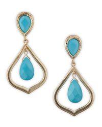 Kendra Scott - Blue Oval Teardrop Earrings Turquoise - Lyst