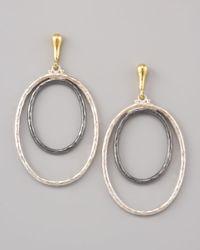 Gurhan | Metallic Double Hoop Earrings | Lyst