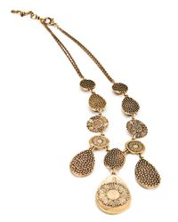 Lucky Brand | Metallic Gold-tone Multi-charm Layer Collar Necklace | Lyst