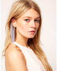 ASOS Metallic Multi Chain Ear Cuff