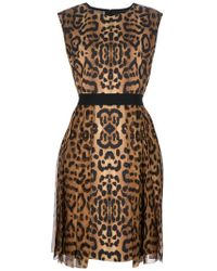 Giambattista Valli | Multicolor Leopard Print Dress | Lyst
