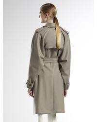 Gucci | Green Fango Wool Trench | Lyst