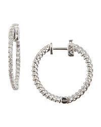 KC Designs | Metallic Round Diamond Insideout Hoop Earrings  | Lyst