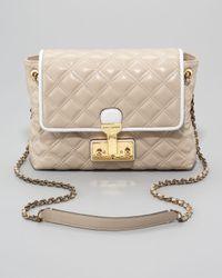 Marc Jacobs - Natural The Single Baroque Twotone Quilted Bag Large - Lyst