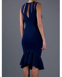 Alexander McQueen | Blue Frilled Hem Dress | Lyst
