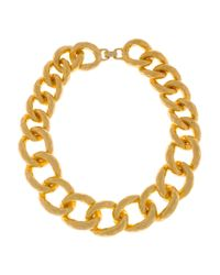 Kenneth Jay Lane | Metallic 22karat Goldplated Oversized Chain Necklace | Lyst