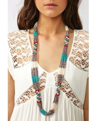 Nasty Gal | Blue Santa Fe Beaded Necklace | Lyst