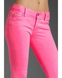 Alice + Olivia | Pink 5 Pocket Skinny Jean | Lyst