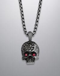 David Yurman | Black Waves Skull Necklace for Men | Lyst
