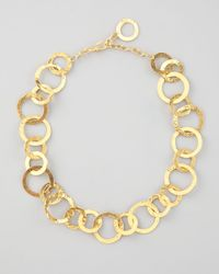 Herve Van Der Straeten | Metallic Hammered Link Necklace | Lyst