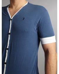 J.C. RAGS | Blue V Neck Tshirt Cardigan for Men | Lyst