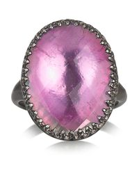 Larkspur & Hawk - Pink Annabel Oxidized Sterling Silver Topaz Ring - Lyst