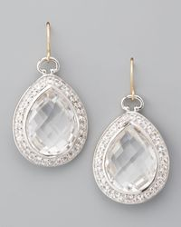 Monica Rich Kosann | Metallic Rock Crystal Teardrop Earrings | Lyst