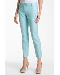 Theory | Blue Sienna Wool Stretch Slim Leg Ankle Pants | Lyst