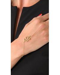 Jacquie Aiche | Metallic Ja Snake Chain Finger Bracelet - Yellow Gold | Lyst