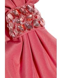 Notte by Marchesa - Pink Embellished Silk-crepe One-shoulder Gown - Lyst