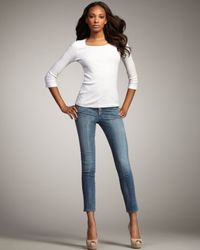Citizens of Humanity | Blue Thompson True Cropped Skinny Jeans | Lyst