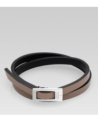 Gucci | Metallic Bracelet with Buckle for Men | Lyst