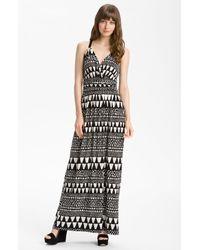 Vince Camuto   White Geo Stripe Maxi Dress   Lyst