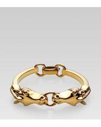 Gucci   Metallic Horse Heads Bracelet   Lyst