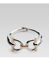 Gucci | Metallic Horsebit Bracelet with G Gucci Firenze Engraving | Lyst