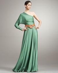 Ralph Lauren Collection - Purple Larisa One-sleeve Silk Dress - Lyst