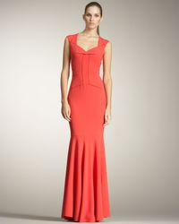 Roland Mouret   Red Frances Fishtail Gown   Lyst