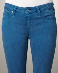 Vince | Blue Cropped Skinny Jeans | Lyst