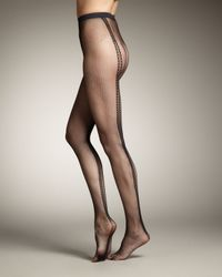 Wolford | Black Estelle Fishnet Tights | Lyst