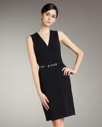 Akris   Black Sleeveless V-neck Dress   Lyst