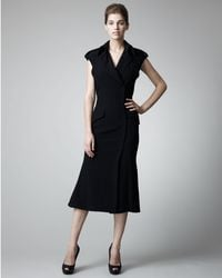 Alexander McQueen | Black Fitted Trench Dress | Lyst