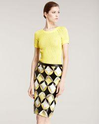 Derek Lam | Yellow Patchwork Snakeskin Skirt | Lyst