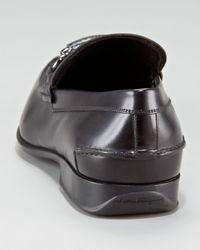 Ferragamo | Black Cantino Bit Loafer for Men | Lyst