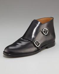 Jimmy Choo | Black Double Monk-strap Boot for Men | Lyst